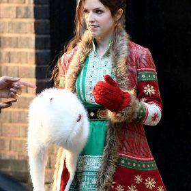 Noelle Anna Kendrick Red Coat