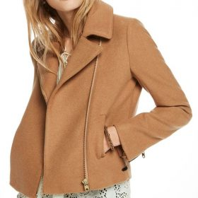 Betty Cooper Riverdale Motorcycle Camel Jacket