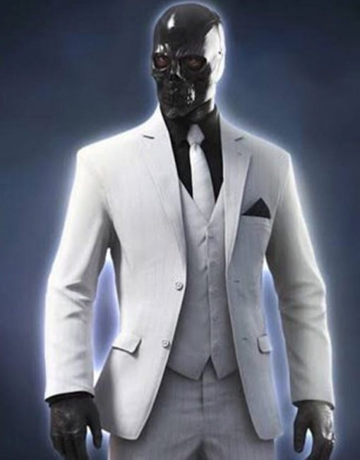 Black Mask White Blazer Coat