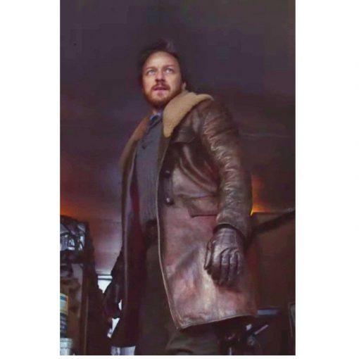 Lord Asriel Shearling Brown Coat