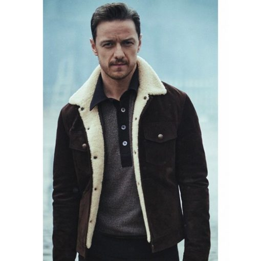 Lord Asriel His Dark Materials Shearling Brown Jacket