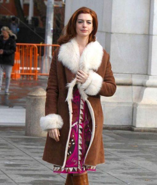 Lexi Modern Love Brown Shearling Coat
