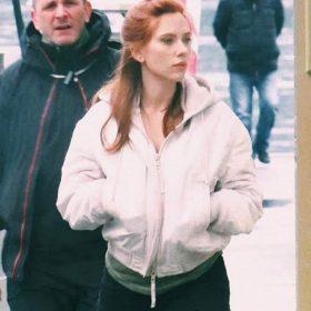 Black Widow Natasha Romanoff White Hooded Jacket