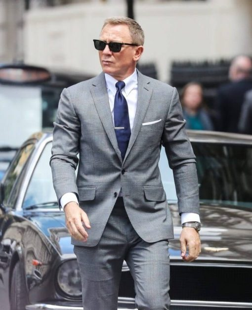 James Bond No Time To Die Glen Check Grey Suit