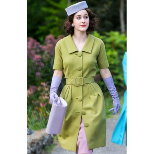 The Marvelous Mrs Maisel Rachel Brosnahan Green Wool Coat