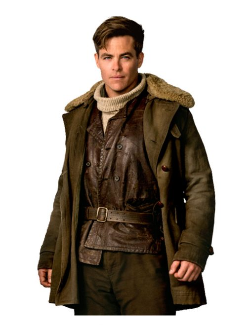 Wonder Woman Steve Trevor Brown Cotton Coat