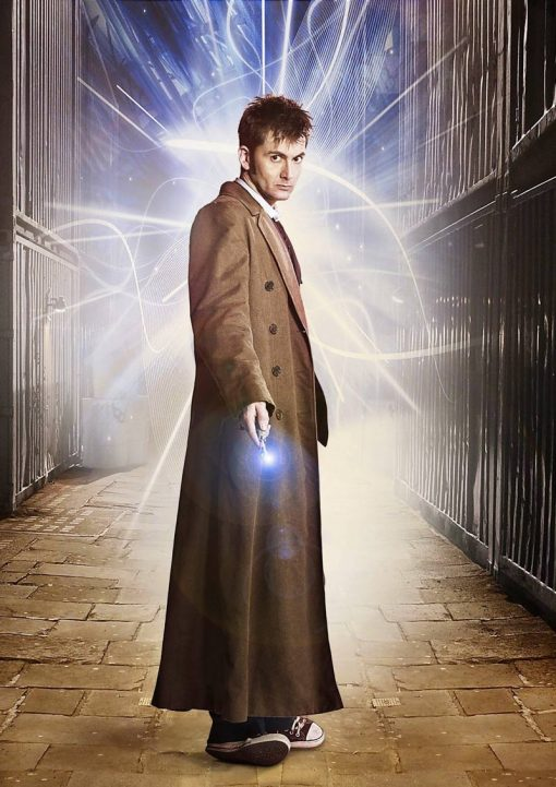 10th Doctor Who Brown Wool Coat