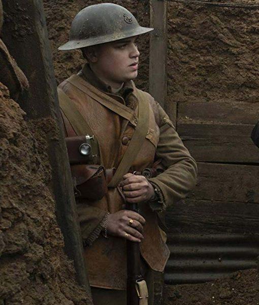 1917 Brown Leather Vest For Mens