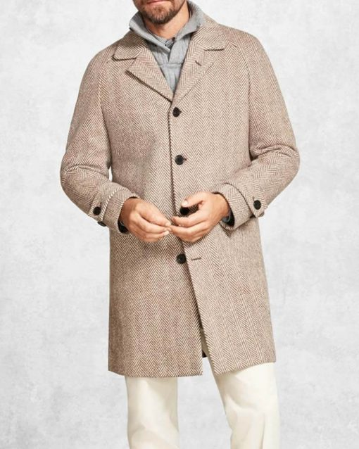 Benoit Blanc Grey Wool Coat