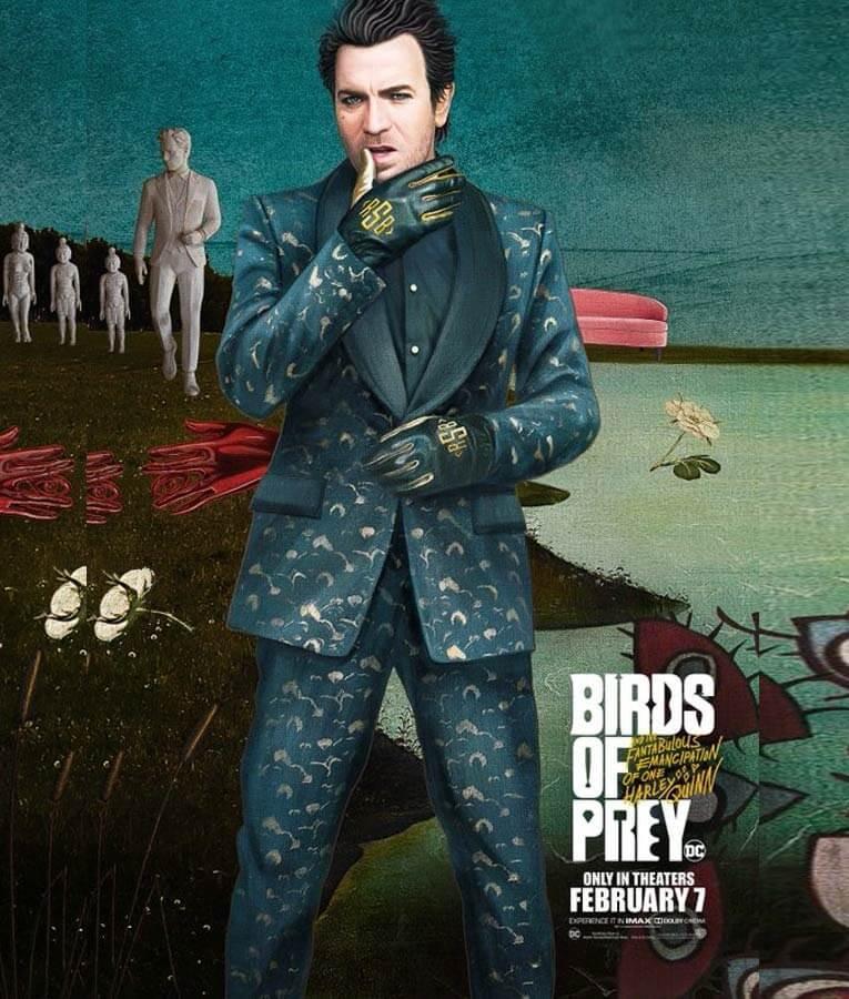 Ewan Mcgregor Green Suit Birds Of Prey Black Mask Suit