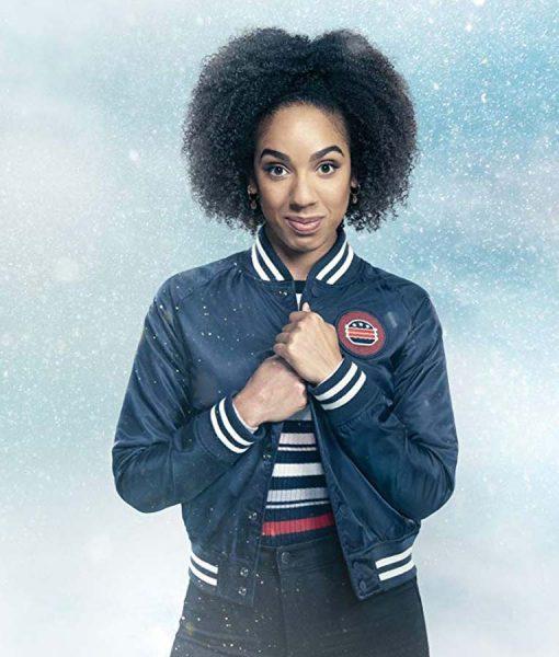 Doctor Who Pearl Mackie Denim Bomber jacket