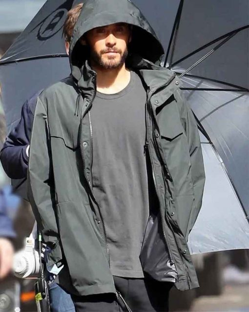 Jared Leto Grey Cotton Dr. Michael Morbius Hooded Jacket