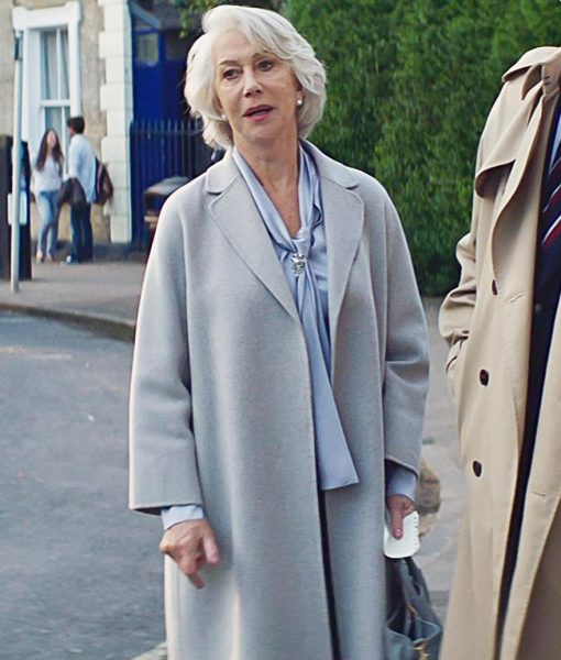 Helen Mirren The Good Liar Trench Grey Coat