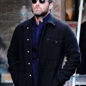The Rhythm Section Jude Law Black Jacket