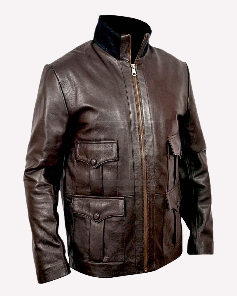 Bond leather jacket casino royale game patchworkz 2