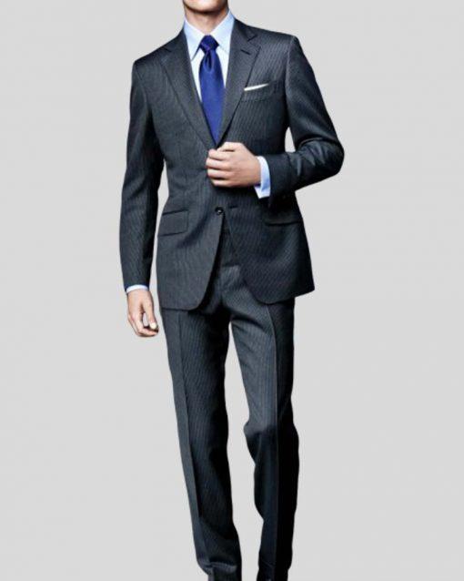 James Bond Pinstripe Spectre Grey Suit