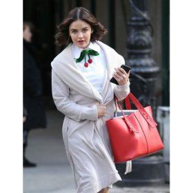 Katy Keene White Wool Coat