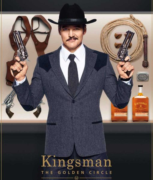 Kingsman The Golden Circle Pedro Pascal Blazer Jacket