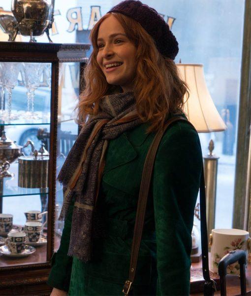 The Goldfinch Ashleigh Cummings Green Velvet Coat