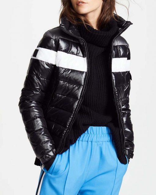 Spinning Out Amanda Zhou Black Bomber Jacket