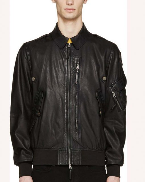 Evan Roderick Spinning Out Black Leather Jacket