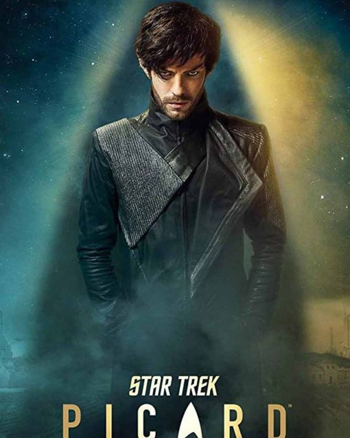 Harry Treadaway Star Trek Picard Narek Leather Black Jacket