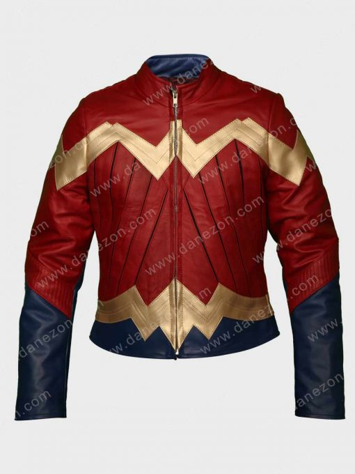Wonder Woman Gal Gadot Maroon Jacket