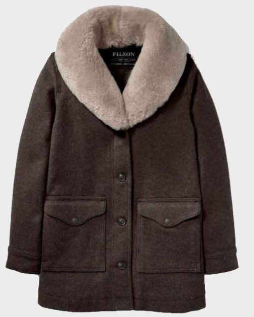 Kelly Reilly Brown Shearling Yellowstone S02 Beth Dutton Coat