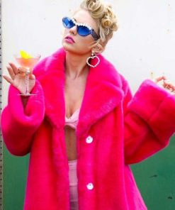 You Need To Calm Down Pink Fur Jacket