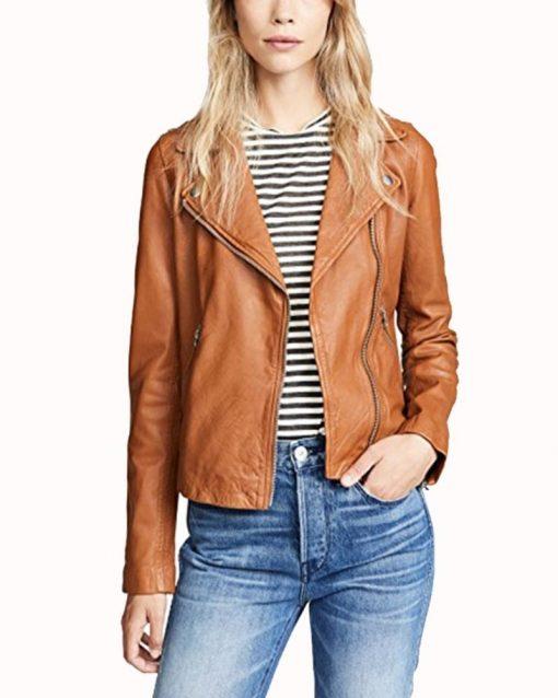 Jes Macallan Legends of Tomorrow Season 4 Brown Leather Jacket