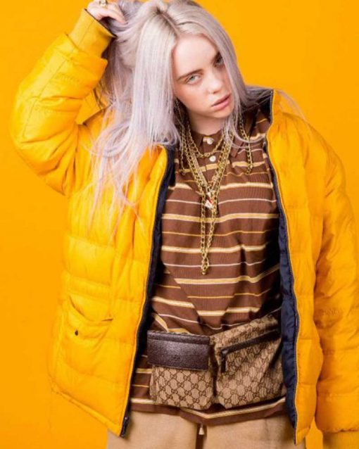 American Singer Billie Eilish Parachute Jacket