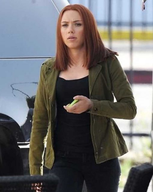 Scarlett Johansson Green Jacket