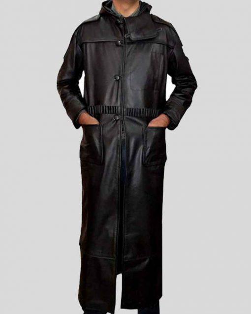 Rutger Hauer Black Leather Blade Runner 1982 Roy Batty Coat
