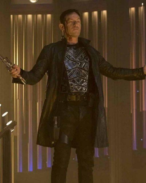 Star Trek Discovery Jason Isaacs Black Leather Trench Coat