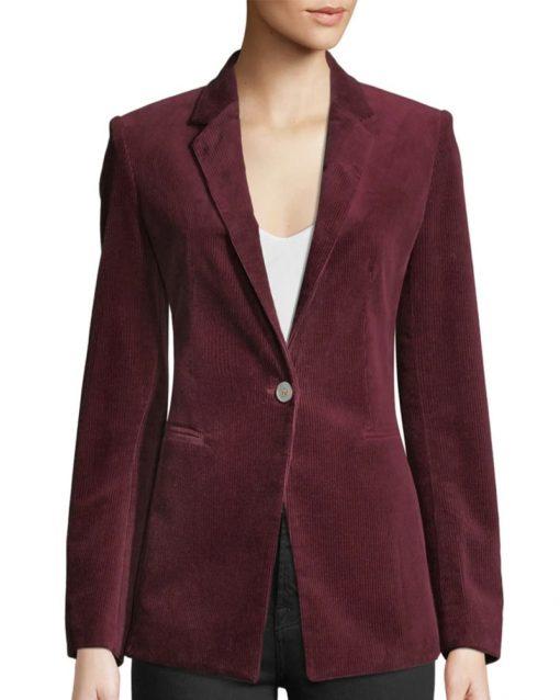 Violett Beane Maroon Blazer