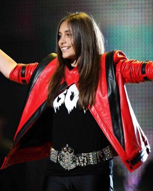 Tribute Concert Michael Jackson Style Christina Aguilera Red Jacket
