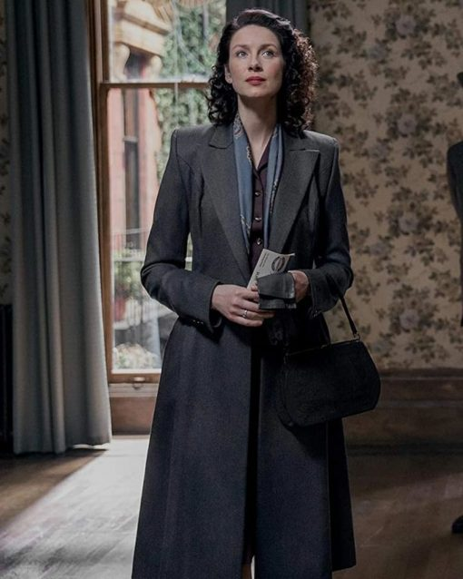 Outlander Caitriona Balfe Grey Trench Coat