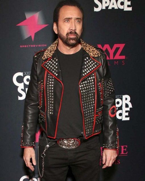 Color Out Of Space Black Leather Nicolas Cage Jacket
