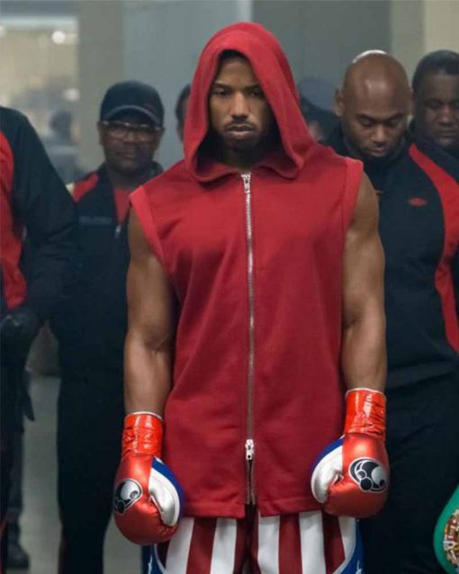 Creed II Michael B. Jordan Cotton Hooded Vest