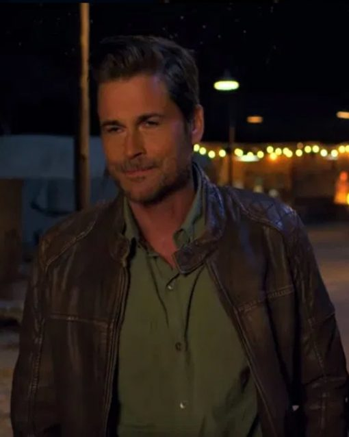 Rob Lowe Brown Leather Jacket