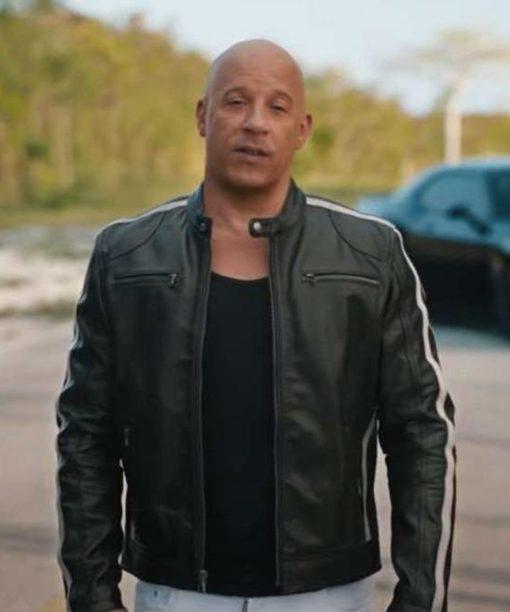 Dominic Toretto F9 Black Leather Jacket