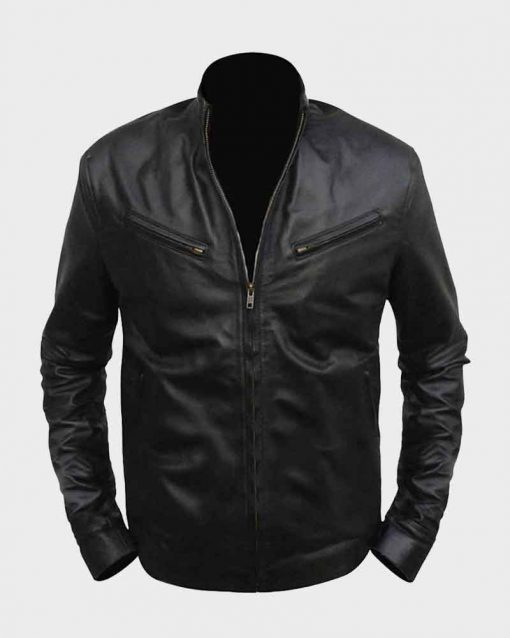 Fast and Furious 6 Vin Diesel Dominic Toretto Black Leather Jacket