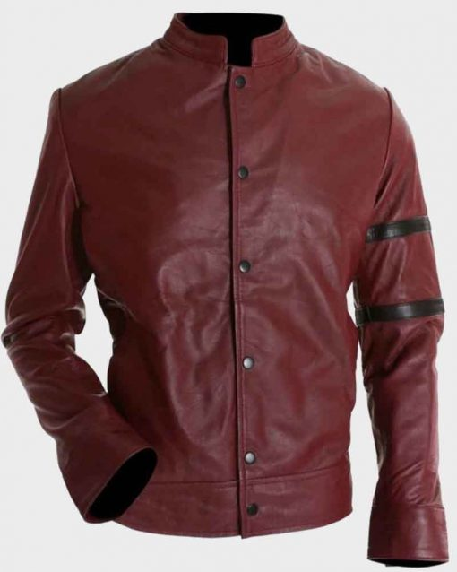 Fast and Furious 6 Vin Diesel Leather Dominic Toretto Maroon Jacket