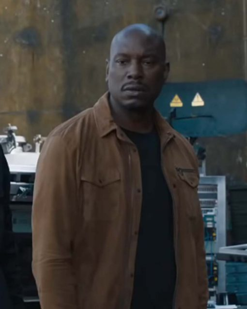 Fast and Furious 9 Tyrese Gibson Brown Cotton Jacket