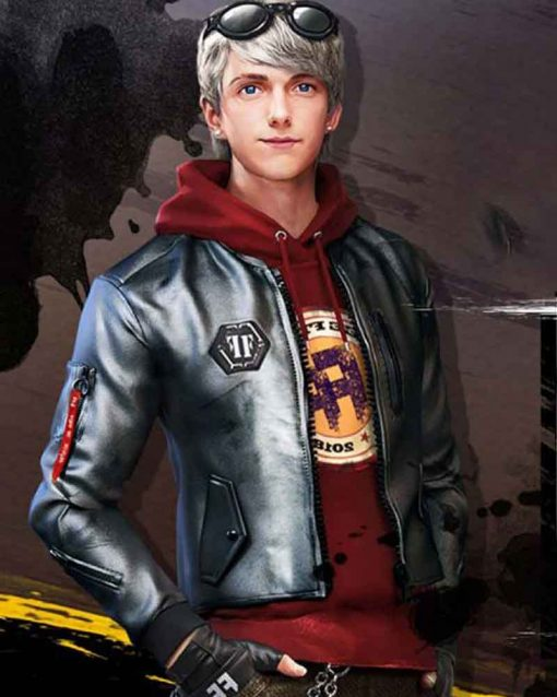 Garena Free Fire Video Game Maxim Silver Leather Jacket