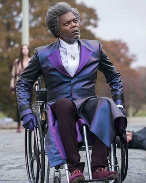 Samuel L. Jackson Purple Glass Elijah Price Coat