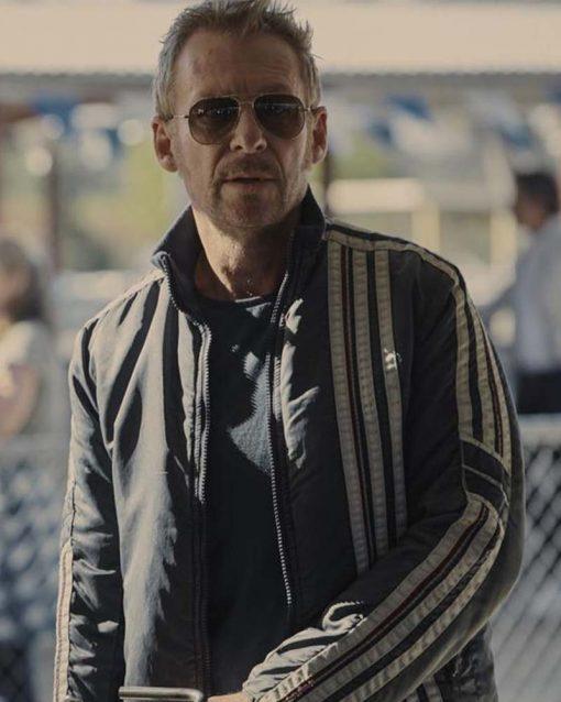 Richard Roxburgh Go! 2020 Patrick Cafe Racer Leather Jacket