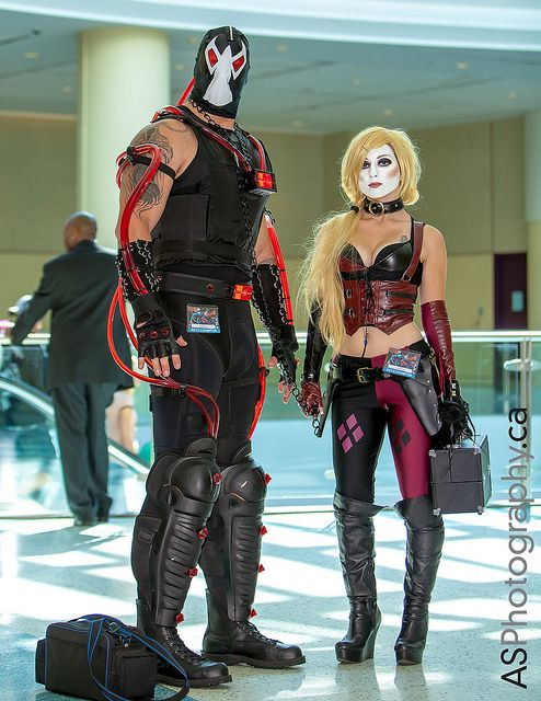 Harley Quinn and Bane Cosplay
