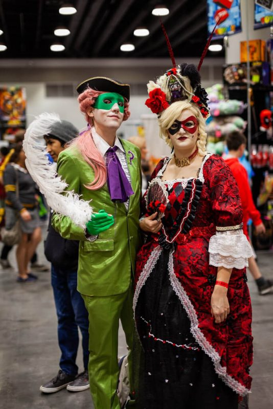 Harley Quinn and Riddler Cosplay