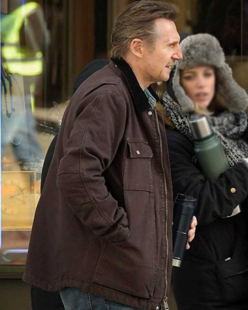 Liam Neeson Honest Thief Brown Jacket